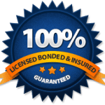 100% Licensed Bonded & Insured Guaranteed Logo